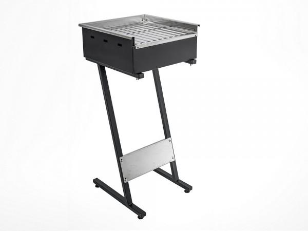 Roštilj na ugljen s inox gradelama 400x400