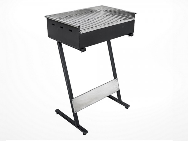Roštilj na ugljen s inox gradelama 600x400