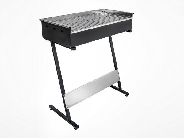 Roštilj na ugljen s inox gradelama 800x400