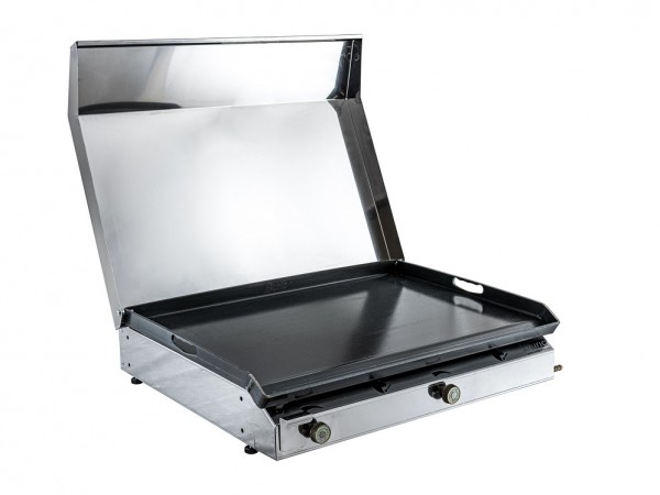 Stolni plinski roštilj s poklopcem 600x400